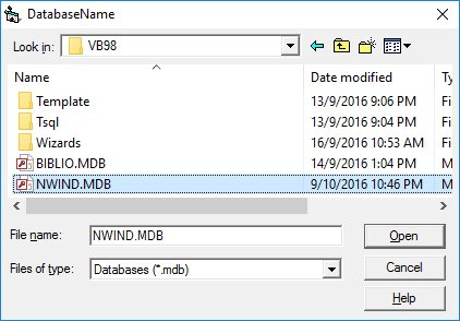 Creating a database application in Visual Basic