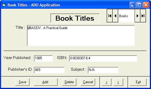 Creating Database Using Ado Control In Visual Basic