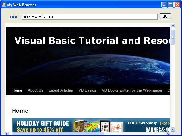 Creating A Web Browser in Visual Basic 2010