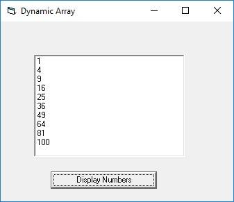 Visual Basic Arrays