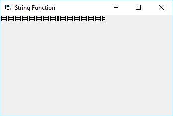 Visual basic string manipulation functions