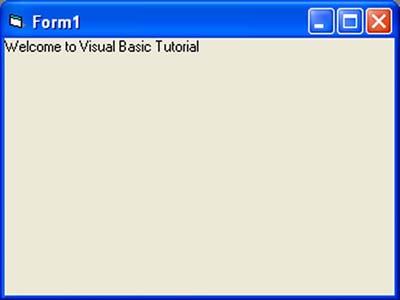 Building Visual Basic Application