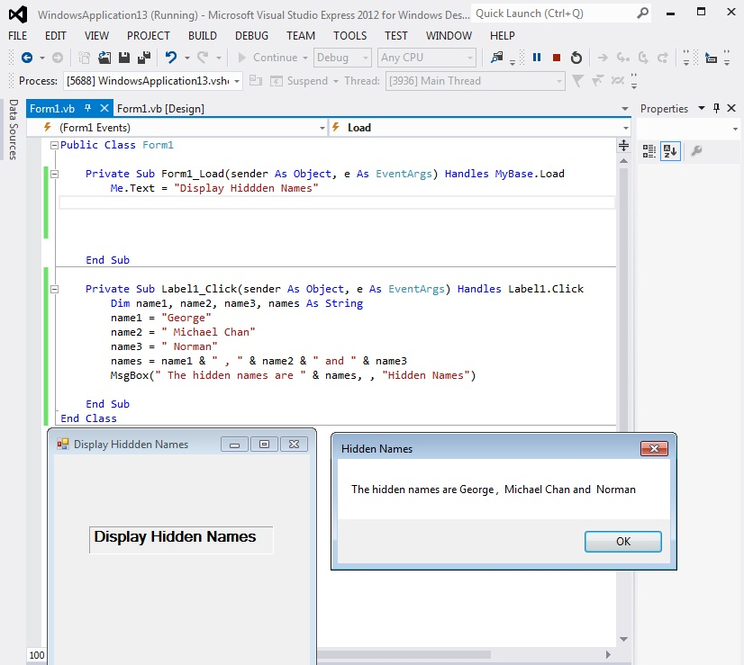Visual Basic 2012