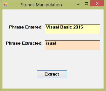 Visual Basic 2015 Lesson 12: Working with Strings - Visual