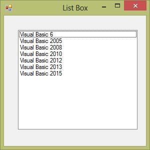 Visual Basic 2015 Lesson 6: List Box and Combo Box - Visual
