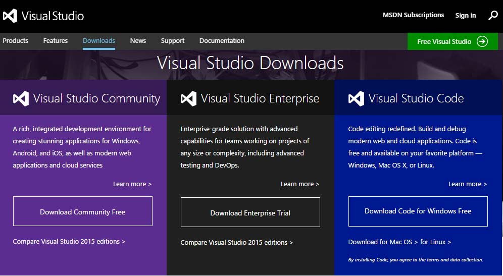 vs2015download