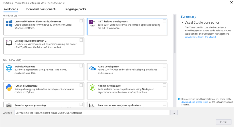 Microsoft launched Visual Studio 2017 Release Candidate - Visual ...