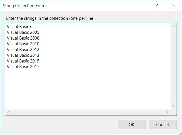 Listbox and Combobox in Visual Basic 2017